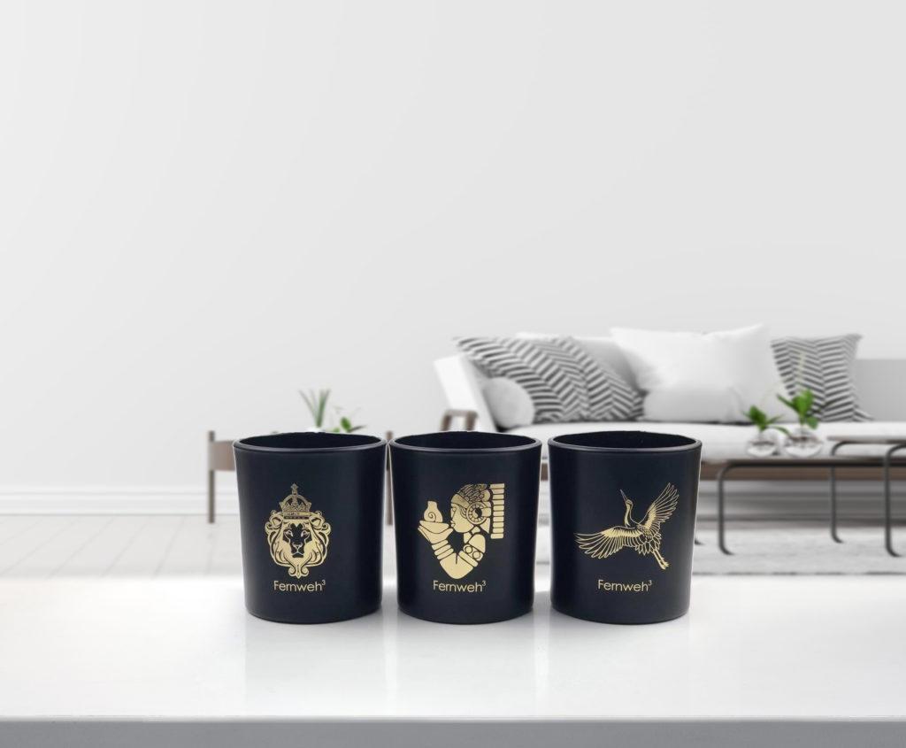 Duftkerzen, Produktdesign für Fernweh³, Marketing Agentur München